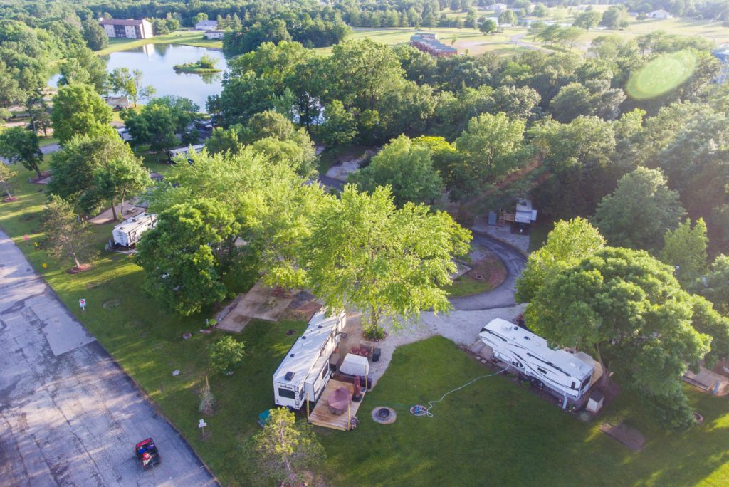 aerial park view