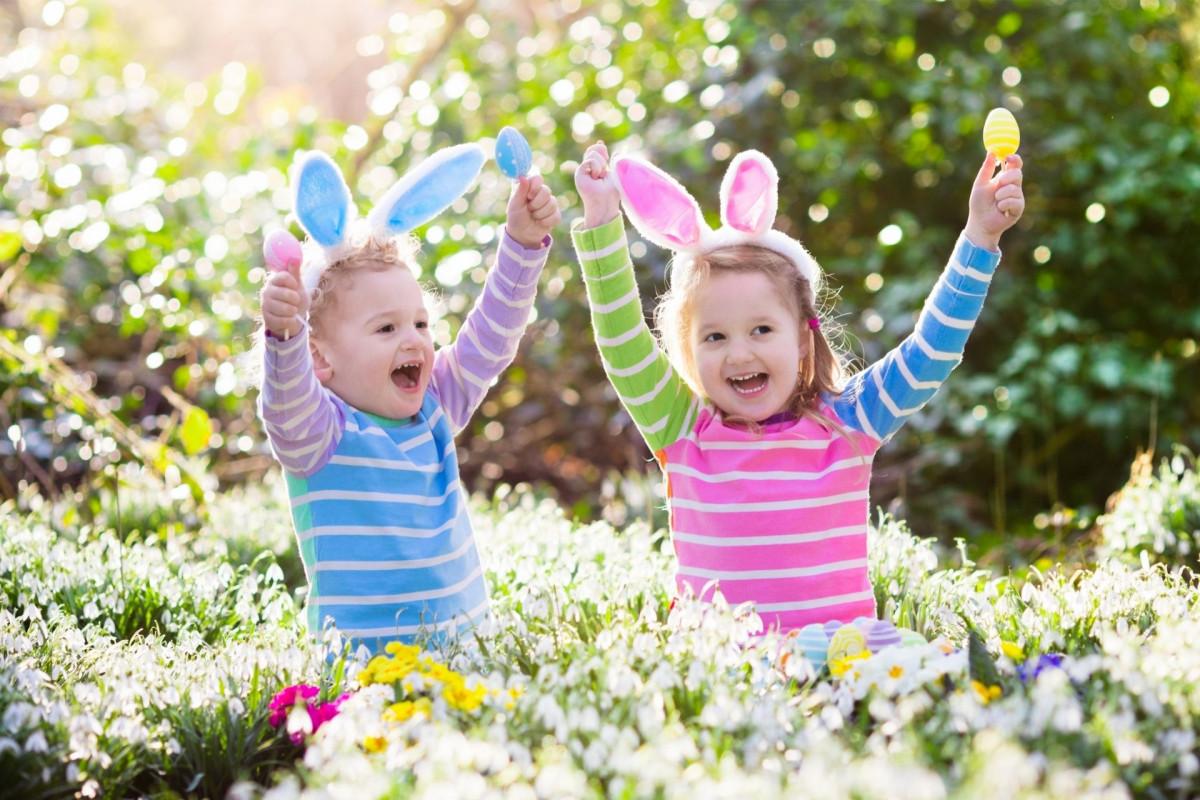 Girls wearing bunny ears
