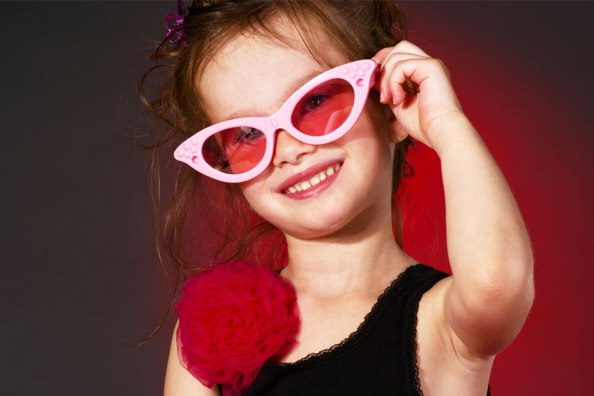 Girl with 1950s style glasses